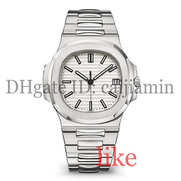 orologi di design orologio da uomo automatico di lusso orologio da polso 5711 cinturino in argento super luminoso in acciaio meccanico da uomo montre de luxe impermeabile