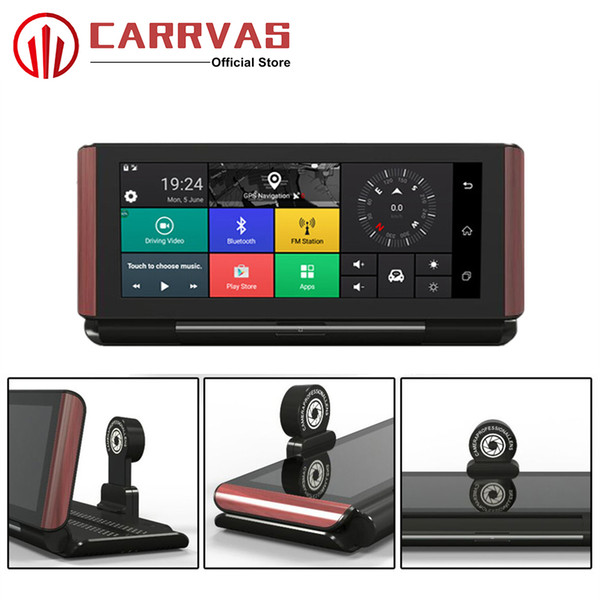 CARRVAS Android GPS Navigator Car DVR Navigation 6.86 inch 1280*480 HD GPS Camera 16GROM with WIFI Bluetooth G-Sensor Player