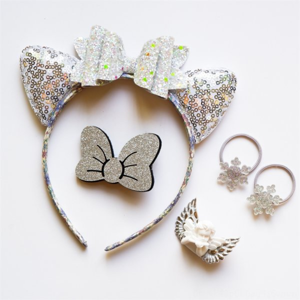 best selling Princess accessories quicksand cat ear band girl hair clip hair Children's accessory set