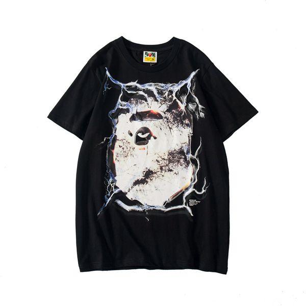 Yeni Stil Moda erkek Siyah Mor Kısa Kollu T-Shirt Yaz Kaykaylar Hip Hop Tees Gömlek Tops