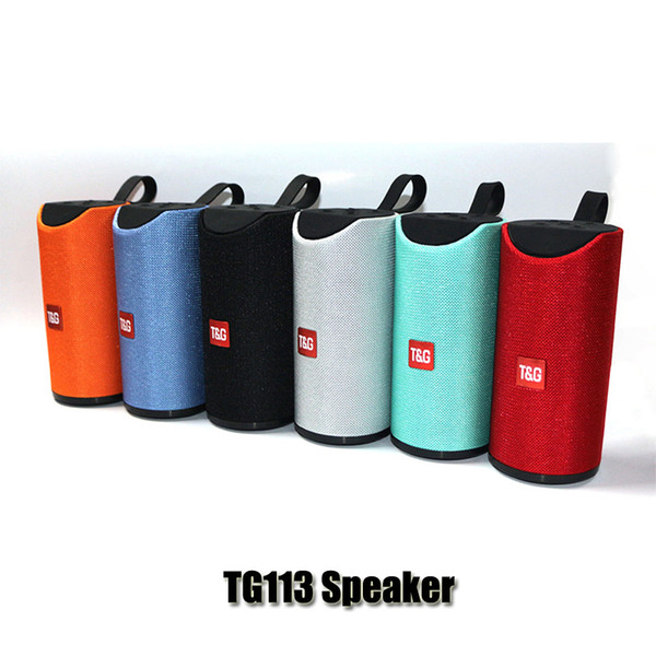 best selling TG113 Loudspeaker Bluetooth Wireless Speakers Subwoofers Handsfree Call Profile Stereo Bass Support TF USB Card AUX Line In Hi-Fi Loud DHL
