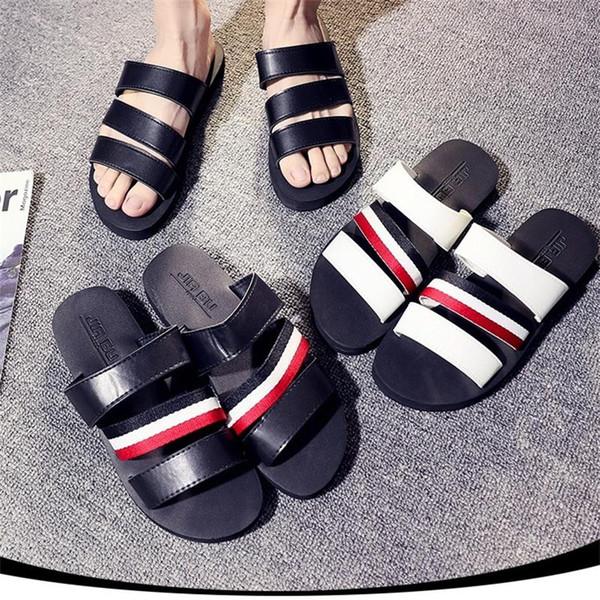 2019 Marke Designer Sandalen Hausschuhe MenWomen Gestreifte Sandalen Kausal rutschfeste Sommer Huaraches Flip Flops Schuhe Auf Lager