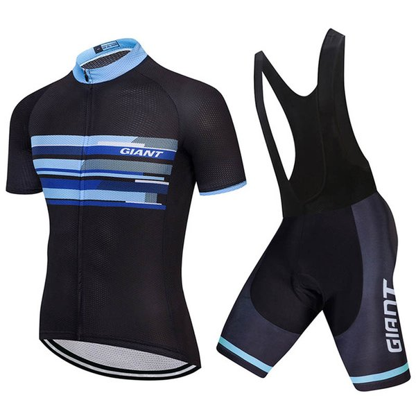 GIANT team Cycling Short Sleeves jersey bib shorts sets Mens MTB Shirts Breathable Bike Clothing Kits Quick Dry Sport Tops T2455