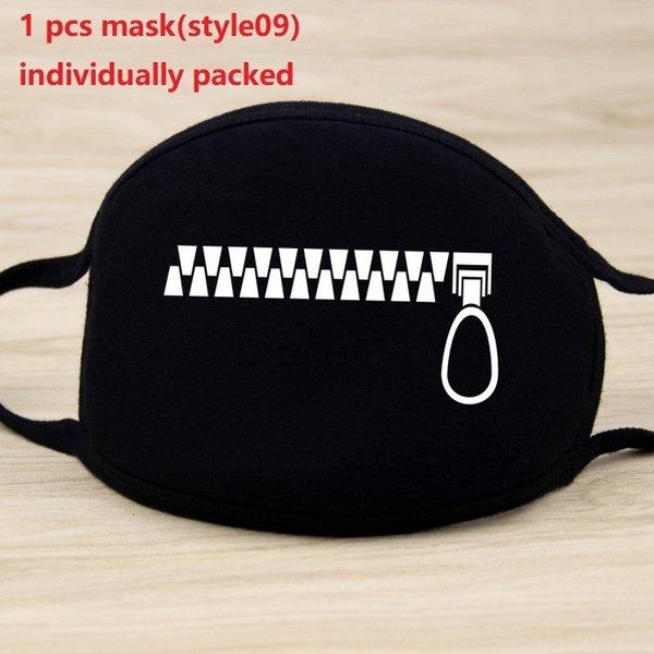 1pc maschera nera (style09)