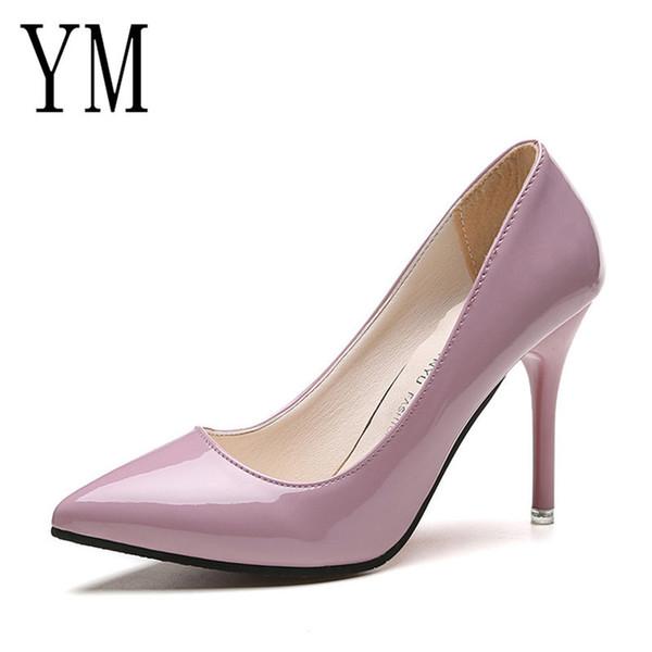 Großhandel Schuhe Niedriger Preis HEIßE Frauen Spitz Pumps Lackleder Kleid High Heels Boot Hochzeit Zapatos Mujer 8,5 4 Cm Von Deals55, $16.81 Auf