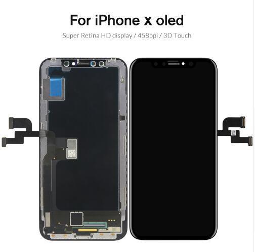 Para iphone x perfeitamente OLED Tianma TFT Screen Display Touch Digitador Tela Completa Assembléia Substituição 5.8 Polegadas LCD Livre DHL