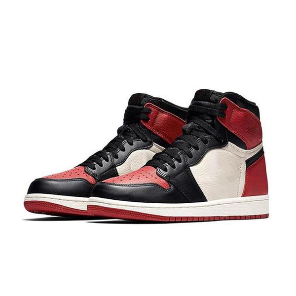 Or Toe 1 OG Chaussures De Basket-ball Hommes Chicago 6 anneaux Baskets Métallique Rouge Baskets FEMMES MID Nouvel Amour UNC Sport designer chaussures taille EU5.5-13
