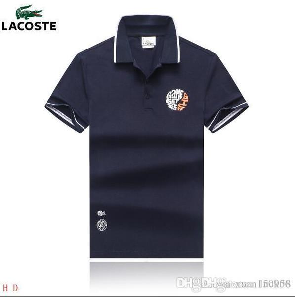 Maglietta da uomo T-shirt a manica corta da uomo T-shirt con risvolto estivo Camicia a manica corta stile britannico