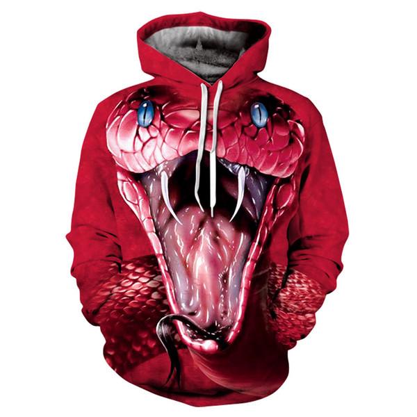 Acheter Nature Animaux Sweats À Capuche 3D Pull Survêtements Survêtements Cool Serpent Imprimé Sweat À Capuche Plus La Taille S 4XL De $35.84 Du