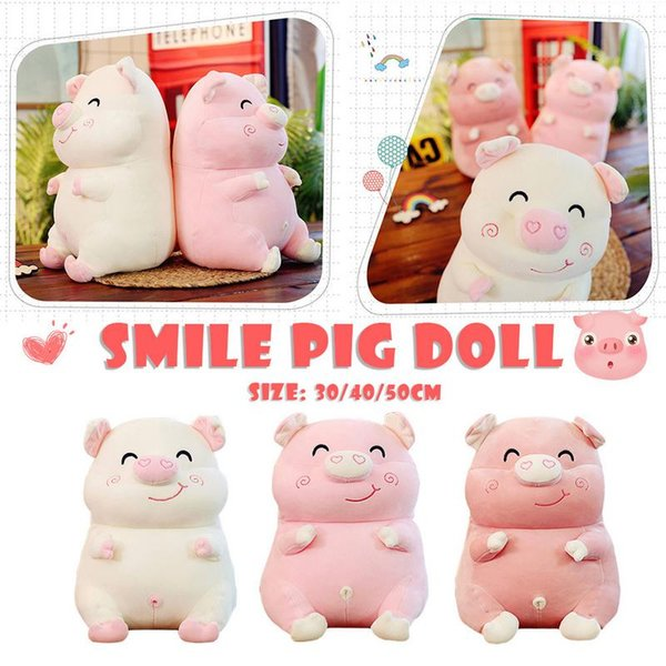 30/40/50cm Cute Pig Plush Toy Stuffed Soft Animal Cartoon Pillow Lovely Birthday Gift For Kids Kawaii Valentine Present