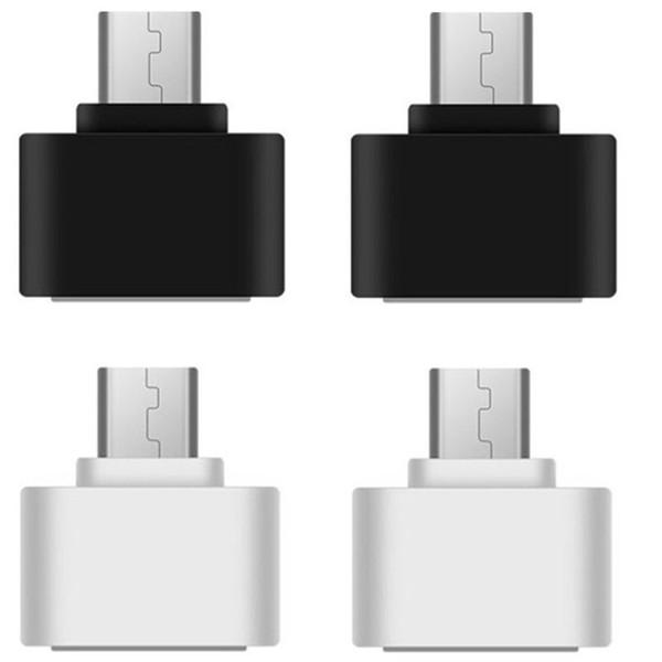 Micro USB a USB OTG adattatore maschio a femmina per smart phone, telefono cellulare Connetti a USB Flash Mouse Tastiera nero bianco