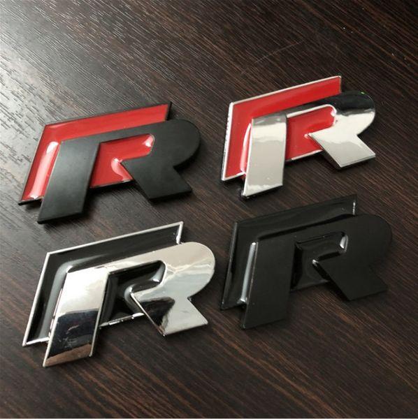 100 ADET 3D Metal R Amblem Rline Oto Styling R Hattı Badge Çıkartmaları Araba Spor Yarış Etiketler Drop Shipping