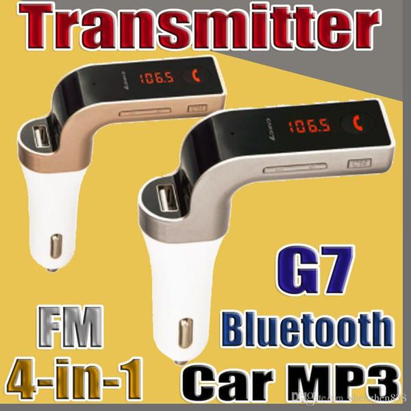 4 EN 1 G7 Voiture Sans-Fil Bluetooth MP3 Transmetteur FM Conception Modulateur 2.1A Chargeur De Voiture Kit Sans Fil Support Mains Libres Micro SD TF