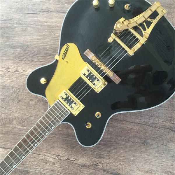 top popular Free Shipping Manufacturers make High quality custom electric guitar 335 black band Guitar guitars guitarra 2020