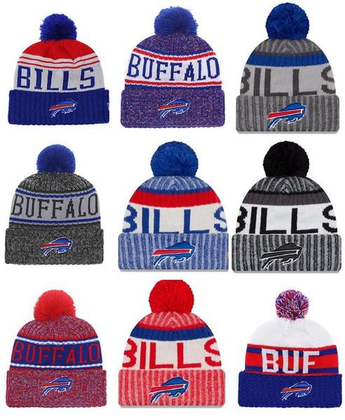 Wholesale New Pom Poms Men Women Winter Hats Sports Bills Beanies Fashion Knitting Hat Embroidered Logo Brand Thick Female Warm Caps