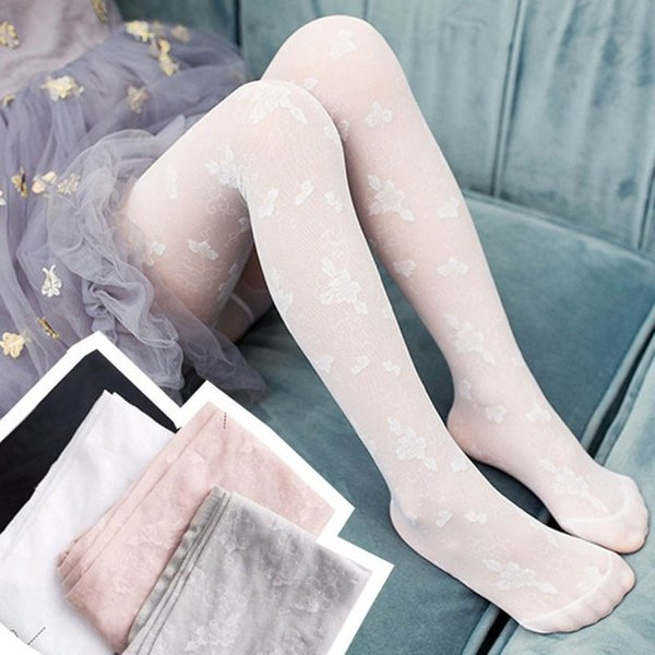 Fashion kids summer clothes lace girls Pantyhose floral girls silk stockings kids Tights dance Kid Leggings kids designer clothes A5235