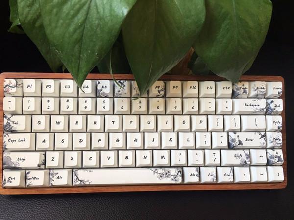 Teclado mecânico GK84 Bluetooth e cereja RGB mx marrom velocidade azul mini 84 backlighting jogo de teclado tintura sub PBT keycap