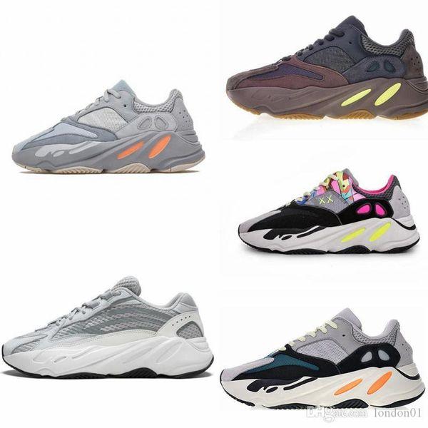 En kaliteli 700 v2 statik koşu ayakkabı mens 700 v1 leylak rengi katı gri tasarımcı ayakkabı kadın kanye west dalga koşucu sneakers