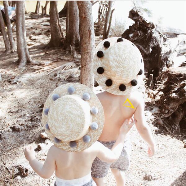 Enkelibb Çocuk Şapka Bebek Güzel Hawaii Aksesuarları Çocuk Kız Moda Sevimli Yaz Tatil Plaj Kap Q190531