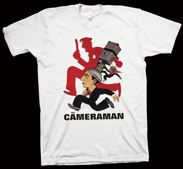 Kameraman T-Shirt Edward Sedgwick, Buster Keaton, Sinema, Hollywood, Film