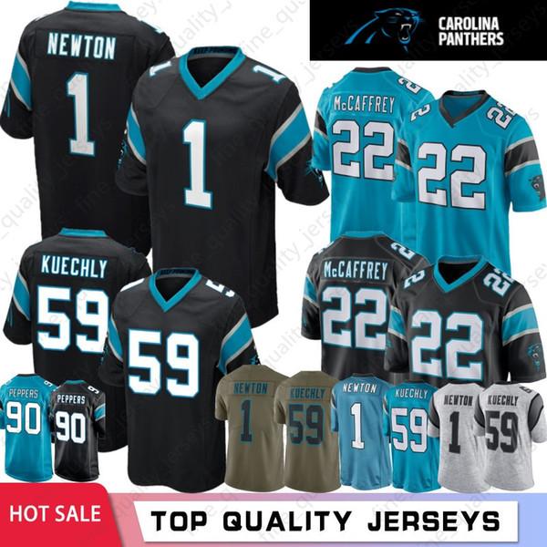 sale retailer c7791 9047c 2019 59 Luke Kuechly Jerseys Carolina Panther 1 Cam Newton 22 Christian  McCaffrey 58 Thomas Davis Jerseys Top Quality % Stitched From ...