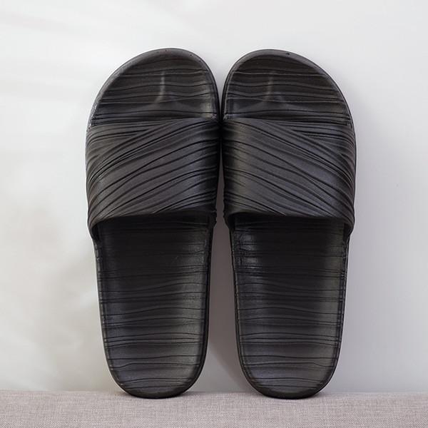 Verano antideslizante Pareja Zapatillas de ducha Inicio Hombre y mujer Zapatillas Sandalias de plástico para interiores y exteriores