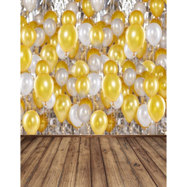 Vinyl Photography Backdrops balloon wood floor photo background 5x7ft backdrops for Photo Studio fotografia Computer printing