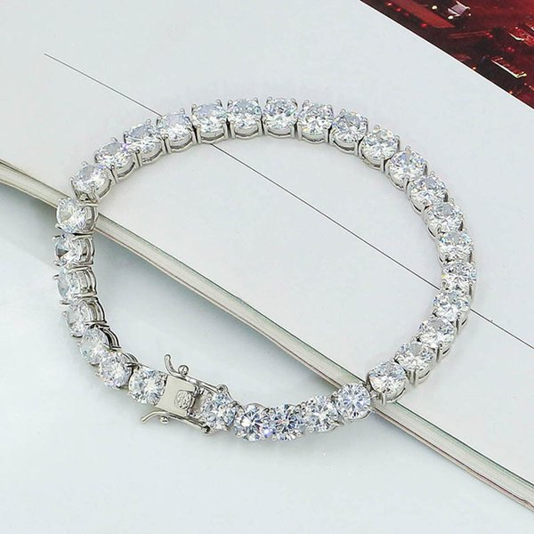 6mm 8inch White Gold