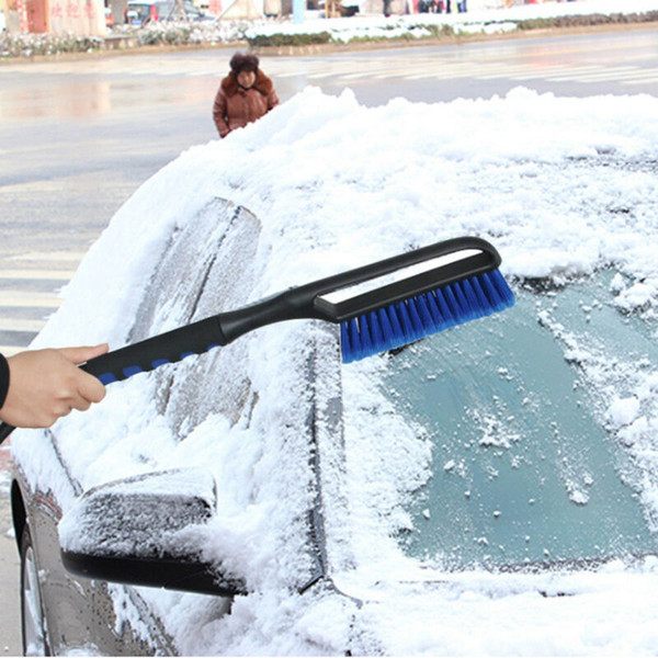 best selling 2019 New Window Usage Ice Scraper with Brush for Car Windshield Snow Removal Frost Handle Shovel Broom