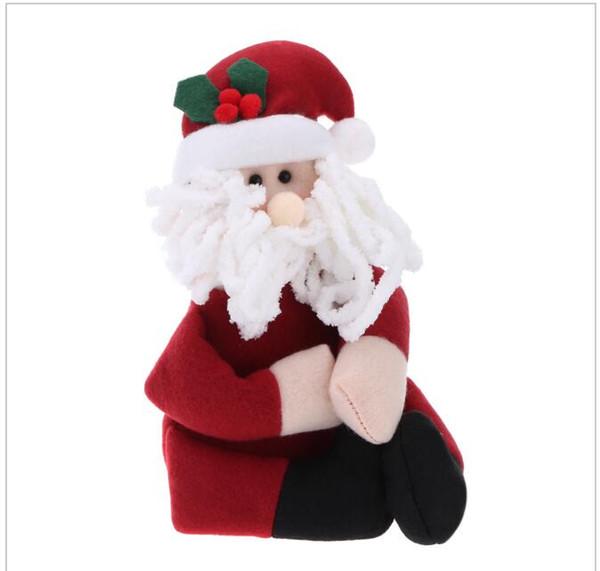 Toalhas Natal da preensão do biberões Capas de Presentes Papai Noel Natal do boneco de neve Decoração de Natal para Home Synthetic Hair Fashion