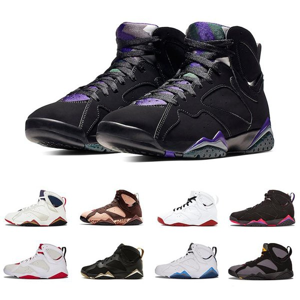 New Top Quality Jumpman Patta X 7 Ray Allen Olympic 7s Men Basketball Shoes History of Flight Hare mens Raptor sports Sneakers