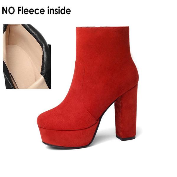 red-no fleece