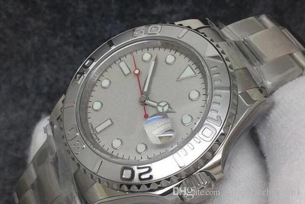 due colori Top NFactory Mens Automatic Eta3135 Watch Men 40 * 13mmCalendar Sapphire Sport Dive Swiss Full 316L Steel bianco da polso