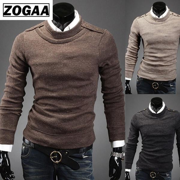 Maglioni da uomo ZOGAA 2019 New Business casual da uomo pullover girocollo in maglia girocollo da uomo