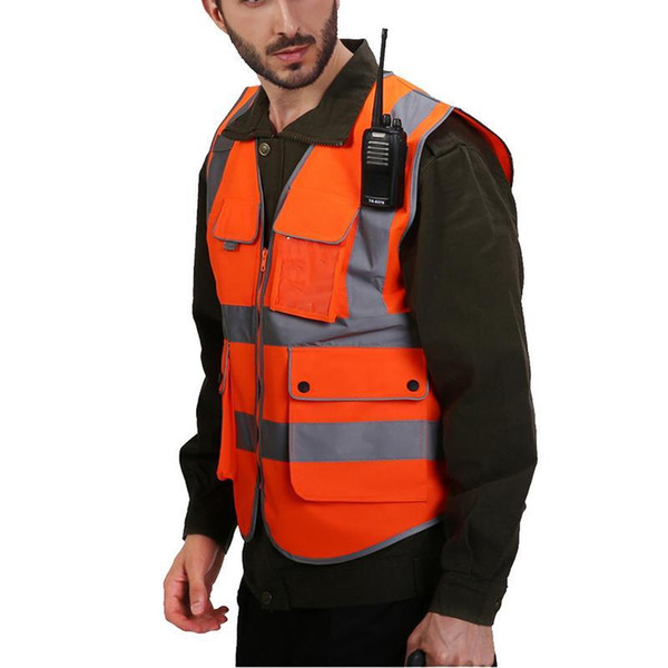 top popular Reflective Vest Construction Engineering Safety Clothing Protective Traffic Warning Green Fluorescent Car Coat Safety Vest 2020