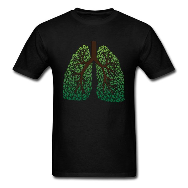 Leaf Lung Tree Cotton Fabric Normal Tops Shirts Discount Short Sleeve Men T-shirts Design Labor Day Tee-Shirts O Neck