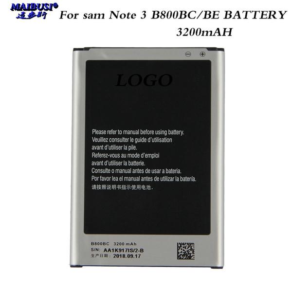 Maibusi alta capacidade b800be para samsung galaxy note 3 n900000 n9002 n9005 n9006 freshipping substituição da bateria do telefone
