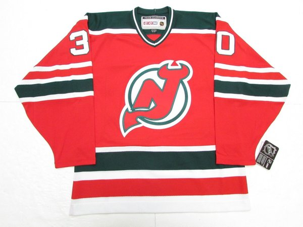 Cheap custom MARTIN BRODEUR NEW JERSEY DEVILS VINTAGE CCM GREEN HOCKEY JERSEY stitch add any number any name Mens Hockey Jersey XS-5XL