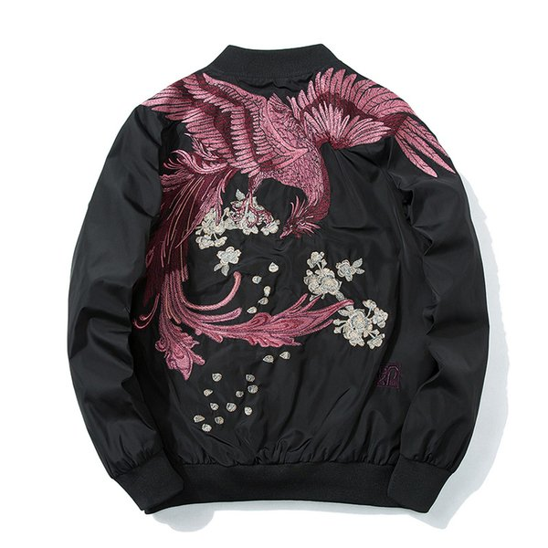 Spring Chinese style Embroidery Baseball Jacket For Men and Women Coat US Size Xs-XL SH190901