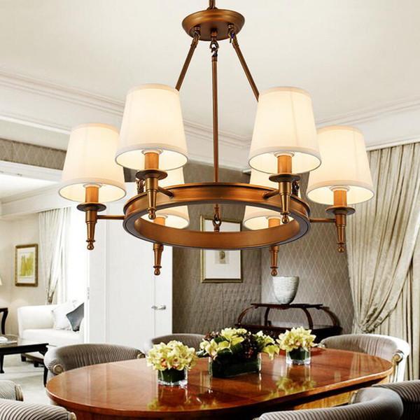Подвесные светильники American Country Гостиная светильники кованое железоосветительное освещение Simple Iron Столовая Спальня Кабинет