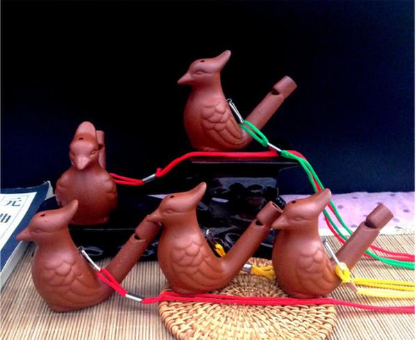 Forma do pássaro Apito De Cerâmica Criativa Kid Favor Apito Brinquedos Presente Retro Estilo Design Divertido Ocarina Água de Alta Qualidade 0 98yx ZZ