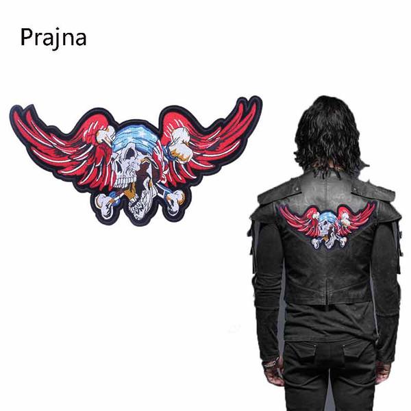 Eagle Patch Готический Панк-Рок Большой Патч Пиратский Патч Скелет Байкерные Полосы Для Одежды Наклейки Значки Ярлыки Для Одежды E