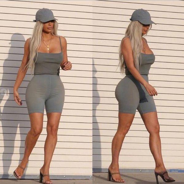 High Street Womens Leggings Haut Enge Kurze Sporthose Fashion Solid Bike Shorts für weibliche INS Heißer Verkauf Sport Leggings