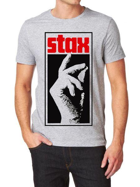Stax Records LOGO camiseta 100% algodón Northern Soul Otis Redding Motown RETRO VINTAGE Camiseta clásica