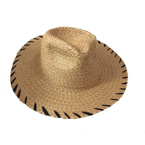 Hollow straw hat Straw Cowboy Hats Western Beach Felt Sunhats Party Cap for Man Women Summer Fashion Beach Hat for Male
