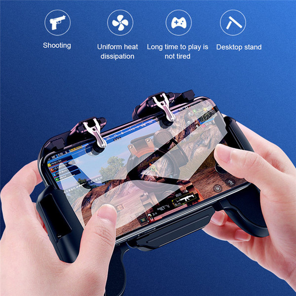 H5 gamepad Mobile Gaming GamePad Cooler Cooling Fan Fire PUBG Mobile Game Controller Joystick Metal L1 R1 Trigger