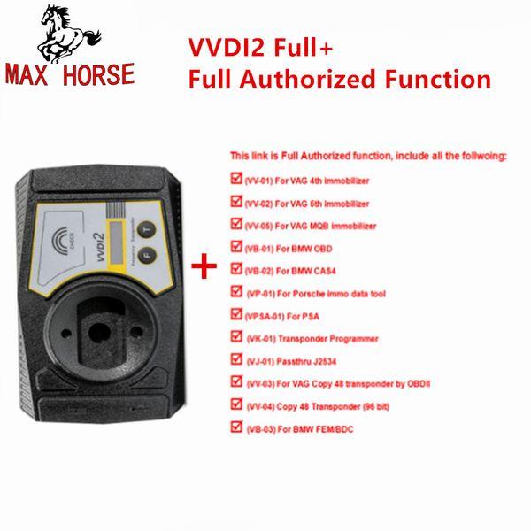 Full Version Xhorse VVDI2 Key Programmer for V-W/Audi/BMW/Porsche V6.0.0 and For BMW FEM BDC ID48 96bit ID48 OBDII MQB Authority