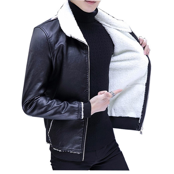 37c5480a8 2019 New Winter Men Pu Leather Jacket Thick Warm Moto Biker Men Coat  Streetwear Male Clothes Fleece Jacket Mens Winter Jackets From Jikai03,  $94.51| ...