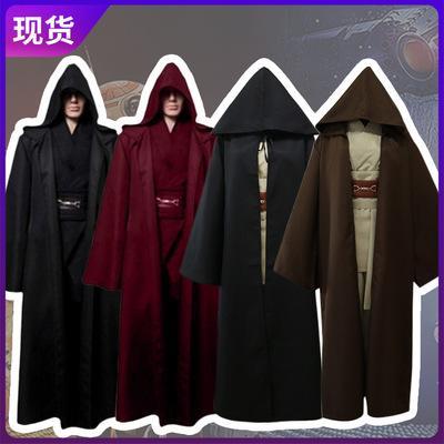 Halloween Jedi Ritter Cosplay Kostüme Anakin Cape Mantel Cosplay Set Bühnenshows Erwachsene Kleidung Freies Verschiffen B1