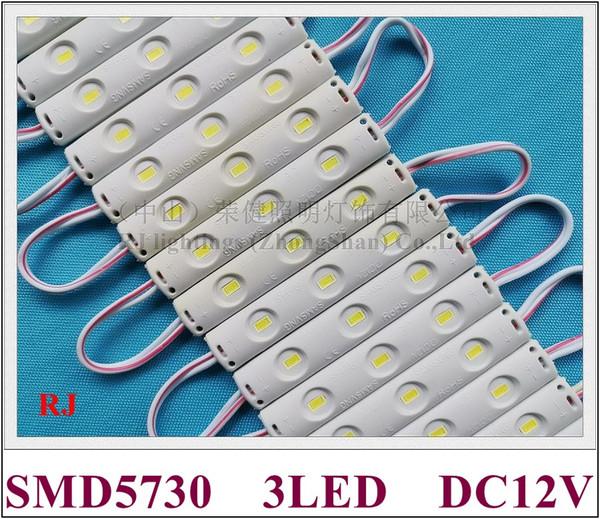 new design injection LED module waterproof LED back light backlight DC12V 0.8W SMD 5730 3 led IP65 75mm*12mm*5mm CE ROHS